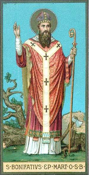 Resultado de imagen para San Bonifacio de Maguncia