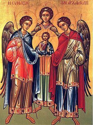 Los ángeles mensajeros de Dios Santos-miguel-gabriel-y-rafael-arcangeles