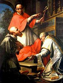 I Santi Carlo Borromeo, francesco di sales e filippo neri. Francesco Trevisani. Museo diocesano San Severino Marche