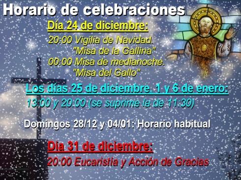 2014-15 Horarios Navidad